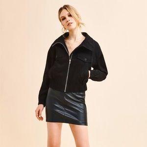 DYNAMITE High Collar Jacket Black
